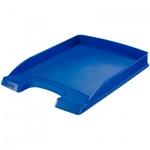 Лоток горизонтальный для бумаг Leitz Plus Slim 357х255x35мм, синий