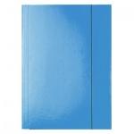 Картонная папка на резинке Esselte голубая, А4, до 400 листов, 13435