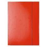 Картонная папка на резинке Esselte, А4, до 400 листов, красная