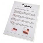 Папка-уголок Esselte прозрачная, A4, 80мкм, 100 шт/уп, 54810