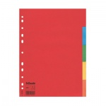 Цветовой разделитель листов Esselte 5 разделов, А4, 100199