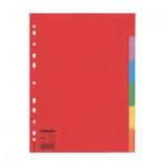 Цветовой разделитель листов Esselte 6 разделов, А4, 100200