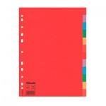 Цветовой разделитель листов Esselte 12 разделов, А4, 100202