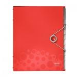 Папка-органайзер Leitz Bebop красная, А4, 12 разделов, 45700025