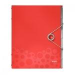 Папка-органайзер Leitz Bebop красная, А4, 6 разделов, 45690025