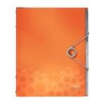 Папка-органайзер Leitz Bebop оранжевая, А4, 6 разделов, 45690045
