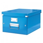 Архивный короб Leitz Click & Store-Wow, А4, 370х281х200мм, средний, голубой