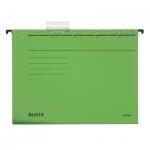 Папка подвесная стандартная А4 Leitz Alpha Стандарт зеленая, 19850055