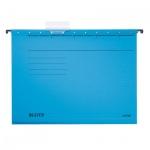 Папка подвесная стандартная А4 Leitz Alpha Стандарт синяя, 19850035
