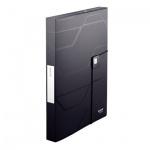 Пластиковая папка на резинке Leitz Prestige черная, A4, до 250 листов, 46090095