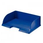 Лоток горизонтальный для бумаг Leitz Plus Jumbo А4, синий, 52190035