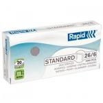 Скобы для степлера Rapid Standard 24862 5M №26/6, стальные, 5000 шт