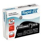 Скобы для степлера Rapid Super Strong 1M для степлера HD9 №26/8+, оцинкованные, 1000 шт