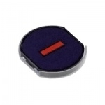 Сменная подушка круглая Trodat для Trodat 46140, черная-красная, 6/46040/2