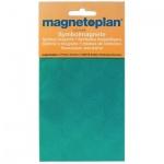 Магниты Magnetoplan 15мм, 30шт/уп, зеленые