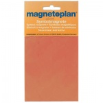 Магниты Magnetoplan 15мм, 30шт/уп, оранжевые