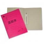 Скоросшиватель картонный Бюрократ Дело красный, А4, 260г/м2, SK260Mred/816452