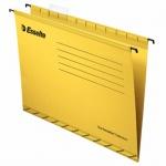 Папка подвесная Foolscap Esselte желтая, А4+, 412x240 мм, 25 шт/уп