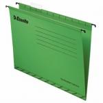 Папка подвесная Foolscap Esselte зеленая, А4+, 412x240 мм, 25 шт/уп