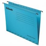 Папка подвесная Foolscap Esselte синяя, А4+, 412x240 мм, 25 шт/уп
