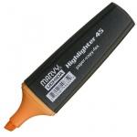 Текстовыделитель Marvy М-45, 1-5мм, скошенный наконечник, оранжевый