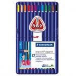 Набор акварельных карандашей Staedtler Ergosoft 12 цветов, 156SB1210