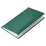 Телефонная книга Brunnen Эмоушен А6, 48 листов, кожзам, зеленый