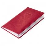 Телефонная книга Brunnen Эмоушен А6, красная, 48л, кожзам