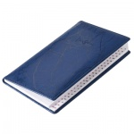 Телефонная книга Brunnen Эмоушен А6, синяя, 48л, кожзам