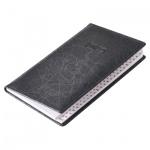 Телефонная книга Brunnen Эмоушен А6, 48л, кожзам, черный