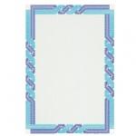 Сертификат-бумага Decadry сине-голубая пара, А4, 115г/м2, 25 листов