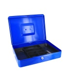 Кэшбокс Office Force TS812, 9х19.5х29см, ключевой замок, синий