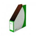Накопитель вертикальный для бумаг Промтара Офис Стандарт А4, 75мм, зеленый