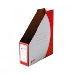 Накопитель вертикальный для бумаг Промтара Офис Стандарт А4, 75мм, красный, 275к