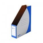 Накопитель вертикальный для бумаг Промтара Офис Стандарт А4, 75мм, синий, 275с