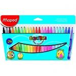 Фломастеры Maped Color'peps Long Life, трехгранные, смываемые