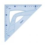Угольник Maped Geometric, 45°/45°, голубой, 21см