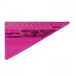 Угольник Maped Twist'n Flex 15см, 30°/60°, розовый, 279410