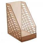 Накопитель вертикальный для бумаг Стамм XXL А4, 160мм, коричневый, ЛТ905