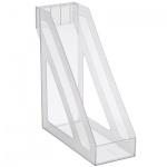 Накопитель вертикальный для бумаг Стамм Базис А4, 100мм, прозрачный, ЛТ34