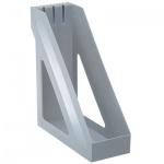 Накопитель вертикальный для бумаг Стамм Базис А4, 100мм, серый, ЛТ31
