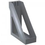 Накопитель вертикальный для бумаг Стамм Базис А4, 100мм, серый металлик, ЛТ33