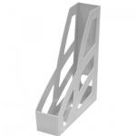Накопитель вертикальный для бумаг Стамм Лидер А4, 70мм, серый