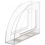 Накопитель вертикальный для бумаг Стамм Респект А4, 70мм, прозрачный, ЛТ144