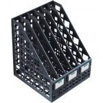 Накопитель вертикальный для бумаг Стамм А4, 6 секций, 240мм, черный, ЛТ87