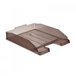 Лоток горизонтальный для бумаг Стамм Эксперт А4, коричневый, ЛТ205