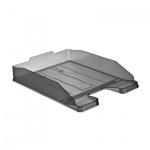 Лоток горизонтальный для бумаг Стамм Эксперт А4, серый тонированный, ЛТ203