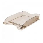 Лоток горизонтальный для бумаг Стамм Люкс А4, коричневый