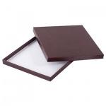 Подарочная коробка для ежедневника Brunnen Бизнес бордовая, 22.5х27.5 см
