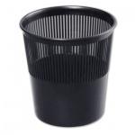 Корзина для бумаг Стамм 9л, черная, сетчатая, КР21
